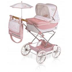 Składany wózek dla lalek Reborn Classic Romantic De Cuevas Toys 82038