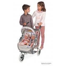 Wózek dla lalek składany podwójnie Reborn DeCuevas Toys 90331 | DeCuevas Toys