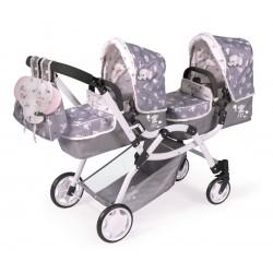 Składany wózek dla dwóch lalek Sky DeCuevas Toys 80335