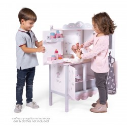 Drewniana szafa zmieniarka lalek Sky DeCuevas Toys 54835 | DeCuevas Toys