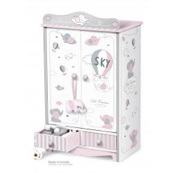 Drewniana szafa dla lalek Sky DeCuevas Toys 54035