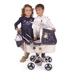 Klasyczny romantyczny składany wózek dla lalek DeCuevas Toys 85032   DeCuevas Toys