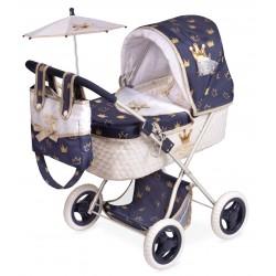 Klasyczny romantyczny składany wózek dla lalek DeCuevas Toys 85032